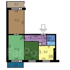 3-комнатная, улица Дзержинского 42 кор. 3. Центральный, 66 квартал, агентство, 67кв.м.