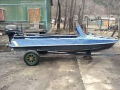 Обь-М. Год: 1989 год, длина 4,20м., двигатель подвесной, 40,00л.с., бензин