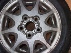 """Колесо, литой диск Тойота, шина Bridgestone. R14 175/70. x14"""" 5x100.00 ЦО 60,0мм."""