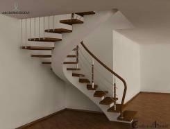 Лестницы любой сложности монолитные шикарно дешевле чем у других