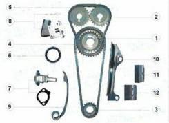 Комплект для замены цепи ГРМ QG16, QG18. Nissan Primera, Avenir 13028-53Y10, 13028-53Y00, 1302850C00, N119B, N118X