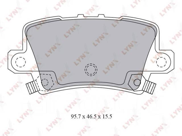 Колодки тормозные дисковые. Honda Civic, FK1, FD3, FD1, FN4, FA3, FG1, FD2, FA1, FN1, FA5, FG2, FK2, FN2, FD7 Двигатели: K20Z4, L13A7, L13Z1, N22A2, R...