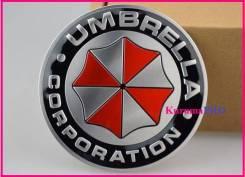 "Эмблема ""Umbrella Corporation"" металлическая на самоклейке. Toyota: Corona, Lite Ace, Ipsum, MR-S, Tundra, Sprinter, Tarago, Starlet, Porte, Echo, Car..."