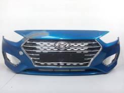 Решетка бамперная. Hyundai Solaris, HCR Двигатели: G4FC, G4LC