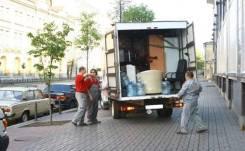 Квартирные переезды для военных. Быстрая подача фургона, бабочки.