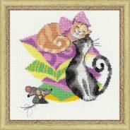 Набор для вышивания Кошки-мышки, пакет
