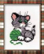 Набор для вышивания (Котенок с клубком), пакет