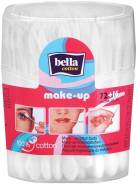Палочки ватные для макияжа, Bella, 72шт +16шт