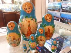 Матрешка российская (оригинал) 7 предметов 75х140 - suv-7-710 Кремль