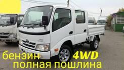 Toyota Dyna. 4WD, двухкабинник+ борт, 2 000куб. см., 1 500кг.