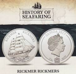 Самоа 1 доллар 2017 Rickmer Rickmers Корабль Парусник Серия