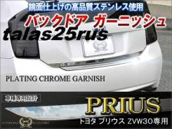 Накладка на дверь багажника. Toyota Prius, ZVW30, ZVW30L, ZVW35