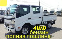 Toyota Dyna. 4WD, двухкабинник+борт, 2 000куб. см., 1 500кг.