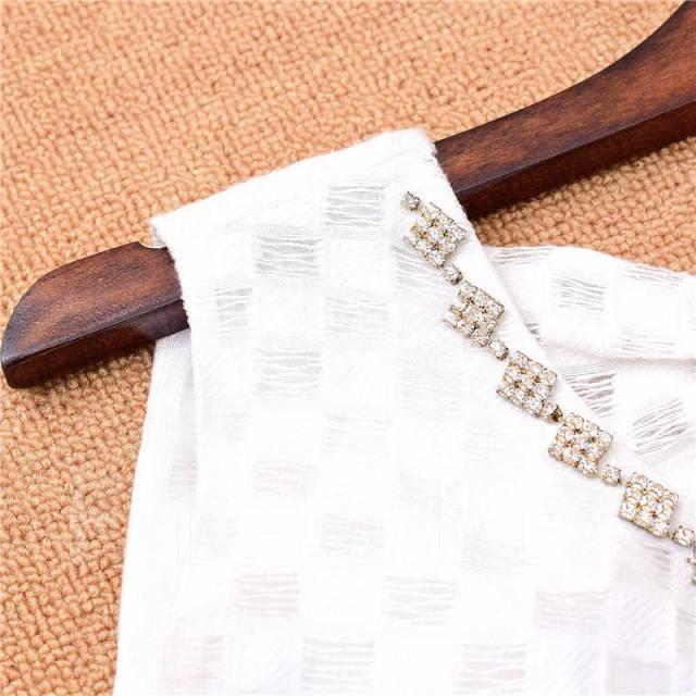 a167bfff2ba Модная блузка без рукавов с баской и бантом на спине! Нереально ...
