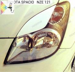 Накладка на фару. Toyota Corolla Spacio, NZE121, ZZE124N, ZZE122N, NZE121N Двигатели: 1ZZFE, 1NZFE