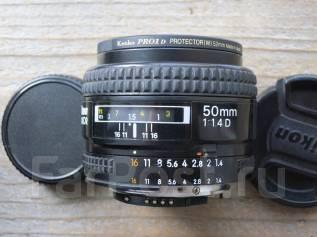 Объектив Nikon AF Nikkor 50mm 1:1.4D. Для Nikon, диаметр фильтра 55 мм