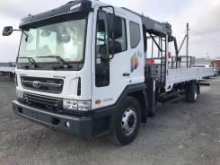 Daewoo Novus. 7 тонн 2017 года с краном манипулятором Horyong 156, 5 898куб. см., 7 000кг.