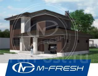 M-fresh Bergamont-зеркальный (Готовый проект дома из газобетона! ). 100-200 кв. м., 2 этажа, 3 комнаты, бетон