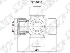Крестовина рулевая. Toyota Vista, SV21, VZV20 Toyota Camry, SV21, VZV20 Двигатели: 1VZFE, 3SFE, 3SGE