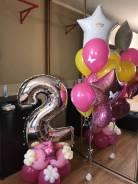 Гелиевые шары, Фигуры из воздушных шаров. Оформление свадьбы