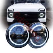 Фара дополнительного освещения. Nissan Patrol Mercedes-Benz G-Class Toyota FJ Cruiser Лада 4x4 2121 Нива, 2121 Land Rover Defender Jeep Wrangler Ssang...