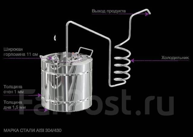 Самогонный аппарат на 20 литров дачный мини спиртзавод самогонный аппарат