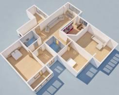4-комнатная, улица Шилкинская 9. Третья рабочая, агентство, 109кв.м. Дизайн-проект
