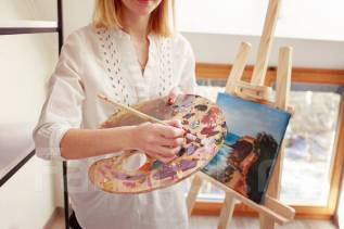 70% скидка на занятия живописью для детей и взрослых