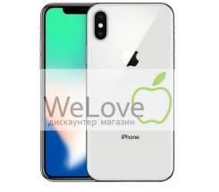 Apple iPhone X. Новый, 256 Гб и больше, Серебристый