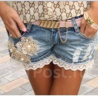 Шорты джинсовые. 38, 40, 42, 44, 46. Под заказ