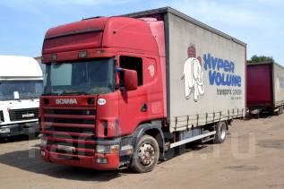 Scania R124. Шторный грузовик , 11 700куб. см., 11 500кг.