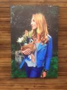 Портреты, коллажи, картины, свадебные фото. Печать на холсте 40х50