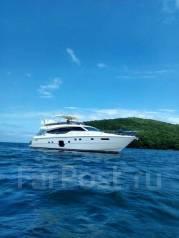 Аренда VIP яхты Ferretti 631. 12 человек, 40км/ч