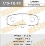 Тормозные колодки дисковые MS1243 MASUMA