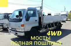 Toyota Dyna. 4WD, борт 4 тонны, 4 100куб. см., 4 000кг.