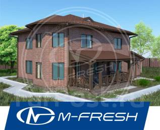 M-fresh Cappuccino Max-зеркальный (Фасад из облицовочного кирпича). 300-400 кв. м., 2 этажа, 4 комнаты, бетон