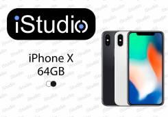 Apple iPhone X. Новый, 64 Гб, Белый, Черный, 3G, 4G LTE, Защищенный