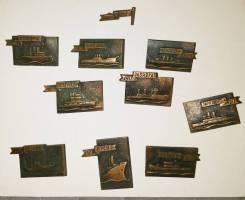 Набор значков Корабли революции 1905 - 1917. Торг