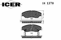 Комплект тормозных колодок диско Icer 181370 Hyundai / Kia (Mobis): 0K045-33-23Z 23442 23443 23444 D7747641 Asia Motors Retona Вездеход Закрытый. Kia