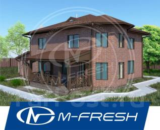 M-fresh Cappuccino Max (Проект с доработанной планировкой и фасадами! ). 300-400 кв. м., 2 этажа, 4 комнаты, бетон