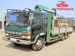 Mitsubishi Fuso. Бортовой грузовик Mitsubishi fuso с КМУ, 7 545куб. см., 8 115кг.