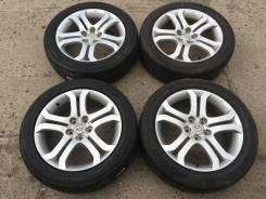 """Комлект дисков Mazda на летней резине 215/55R18. 7.0x18"""" 5x114.30 ET45 ЦО 67,1мм."""