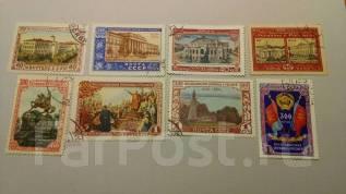 СССР 300 лет Воссоединения Украины с Россией 1954 год серия 8 марок