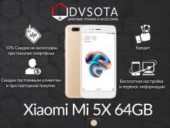 Xiaomi Mi5X. Новый, 64 Гб, Желтый, Золотой, Dual-SIM, Защищенный