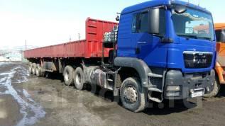 MAN TGS 33.430. Продается МАН 6х6 с полуприцепом гп 50 тн, 10 700куб. см., 33 000кг.