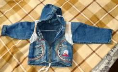 Куртки джинсовые. Рост: 74-80, 80-86, 86-92 см