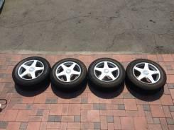 "Комплект колес Bridgestone Blizak mz-03 215/60 R16 Зима! Жир!. 7.0x16"" 5x100.00, 5x114.30 ET48 ЦО 56,1мм."