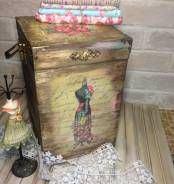 Большой Короб-шкатулка для мелочей, подарок из дерева