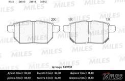 Колодки тормозные (Новая смесь) TOYOTA COROLLA 1.4 VVT-I 02>/AURIS 1.6/1.4 07> задние (без датчика) MILES E410136