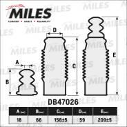 Сервисный комплект (пыльник и отбойник на 1 амортизатор) MILES DB47026
